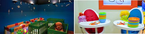 Club Turtle - Comedor niños y Sala para dormir  Hotel Mediterranean Palace