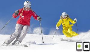 Esquiar haciendo uso de aplicaciones móviles