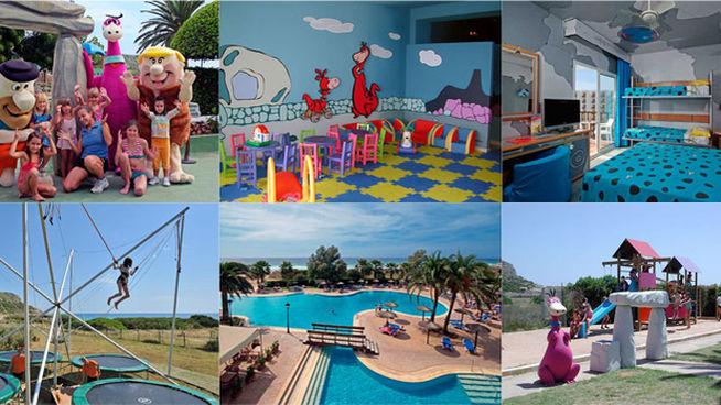 Hoteles para niños - Hotel Sol Milanos Pingüinos en Menorca