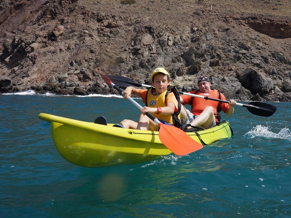 Viajacontuhijo, kayaks programa cabogata garden singles con hijos
