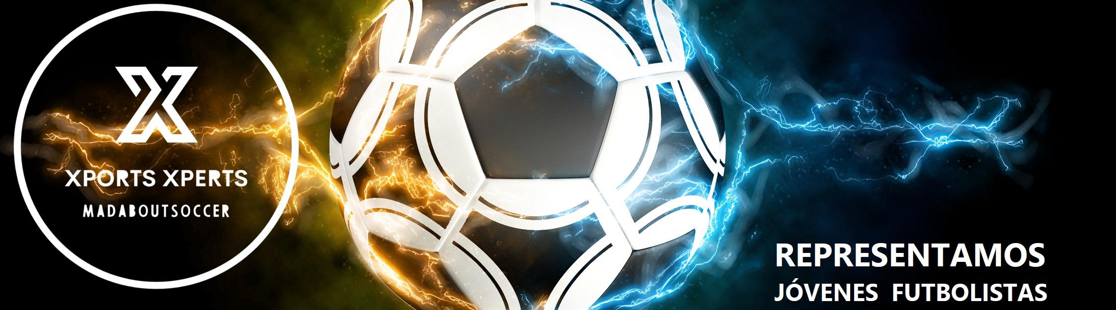 representando futbolistas jóvenes